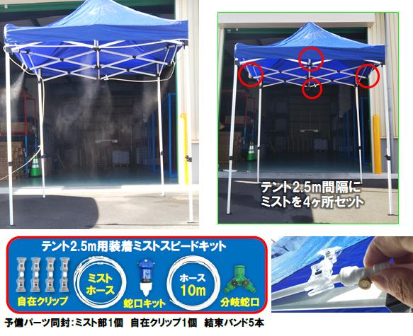 テント2.5M用装着ミスト スピードキット画像